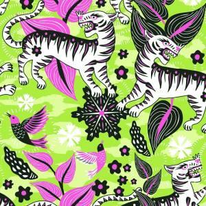 Papier peint Selva de Tigres non tissé