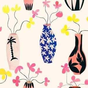 Papier peint Vase of Paradise Vinyle