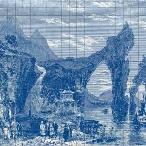 Panoramique sur mesure Illustration Tiles
