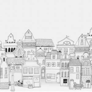 Panoramique sur mesure London Houses