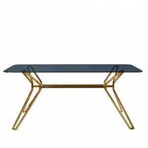 Table rectangulaire en verre