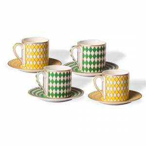 Set de 4 tasses espresso Chess