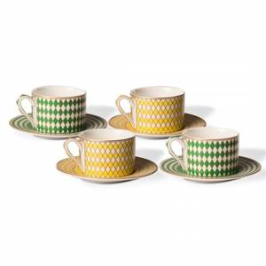 Set de 4 tasses à thé Chess