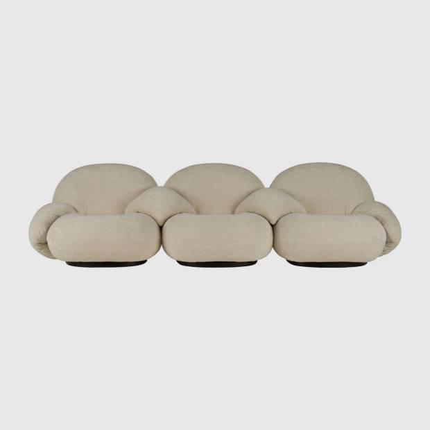 Fauteuil Pacha (3 sièges, avec accoudoirs sur chaque siège)