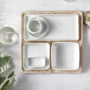 Assiette Porcelino Square