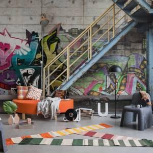 Panoramique Stairway Graffiti