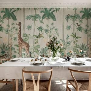 Papier peint Giraffe's stroll