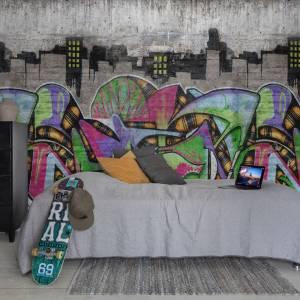 Papier peint Concrete art Graffiti