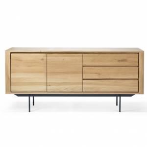 Buffet Shadow en chêne - 2 portes, 3 tiroirs