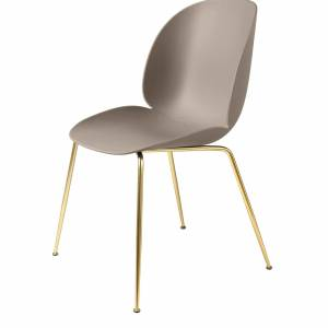 Chaise Beetle Dining Conic Brass Base