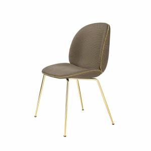 Chaise Beetle Dining Fully Upholstered Brass Base