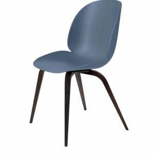 Chaise Beetle Dining Conic Wood Smoked Oak Base