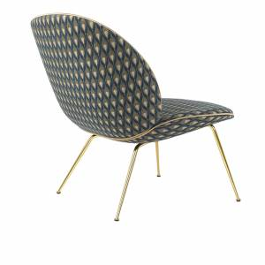 Chaise Beetle Lounge Brass Base