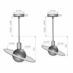 Suspension Saturne XS