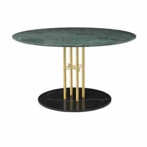 Table Ts Column Dining Brass & Black 130