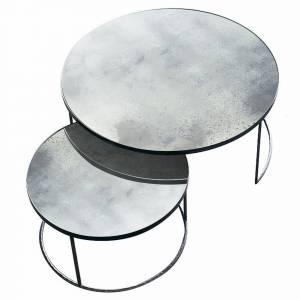 Set de 2 Table Clear Nesting Heavy Aged
