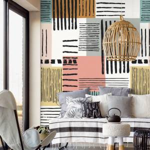 Panoramique Painted Patchwork Stripes +
