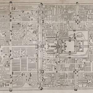 Papier peint Old Beiging Map