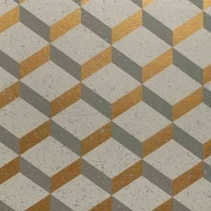 Papier peint Printed Cork 3D Square
