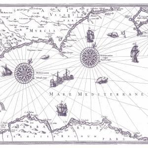 Papier peint Carte Marin