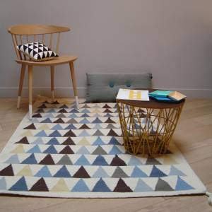 Tapis Triangles Bleu