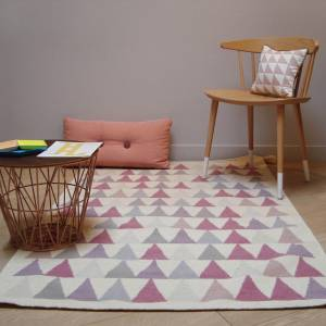 Tapis Triangles Rose