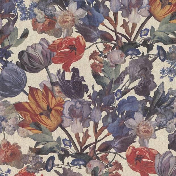 Fleurs /& Carrés recouvrable papier peint par Brewster P96291